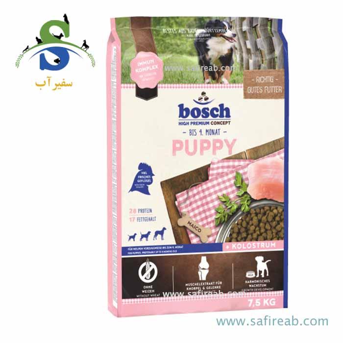 غذای خشک مخصوص توله سگ برای تغییر از شیر مادر به غذای خشک (۷/۵ کیلوگرم) بوش  