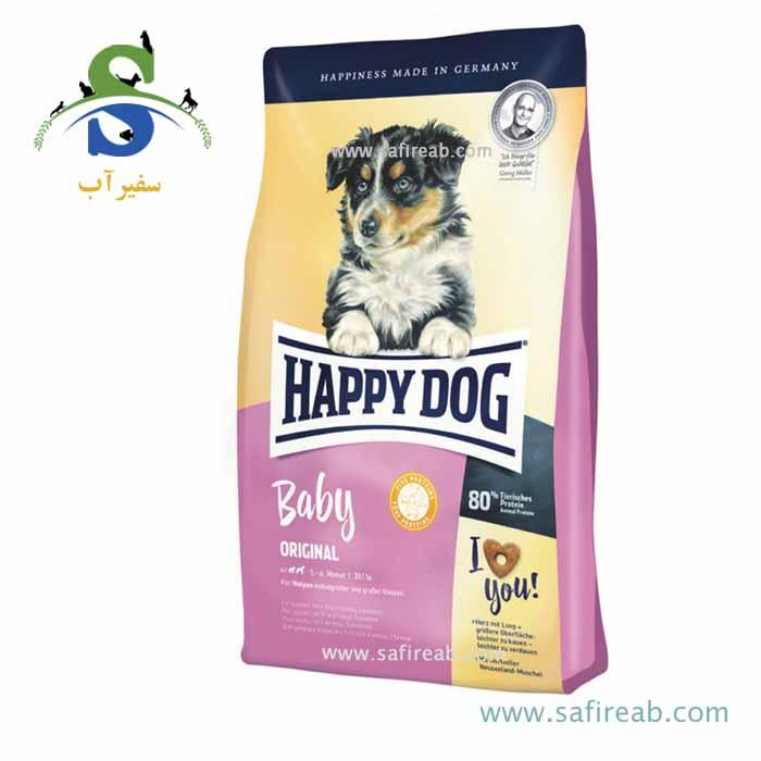 غذای خشک سوپر پرمیوم مخصوص توله سگ ۱ تا ۶ ماه نژاد بزرگ و متوسط (۱۸ کیلوگرم) هپی داگ  