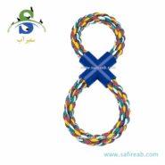 اسباب بازی طناب کنفی به شکل ۸ انگلیسی فرپلاست