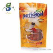 غذای تشویقی سگ مدل مرغ تند خشک شده (۱۰۰ گرم) پتی دیل