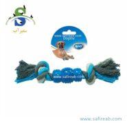 اسباب بازی طناب کنفی سگ دُوو (Duvo+ Cotton 2 KnotsRubber)