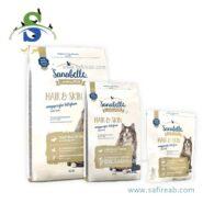 غذای خشک مخصوص گربه بالغ،ایده آل برای ایجاد پوست و مو سانابل (Sanabelle Hair & Skin new