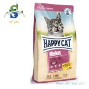 غذای خشک گربه مدل مینکاس مخصوص گربه عقیم شده (۱۰ کیلوگرم) هپی کت (Happy Cat Minkas Sterilised 10kg)