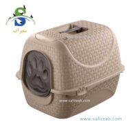توالت مسقف گربه مدل پرایو (Closed Litter Box for Cats Prive) 1