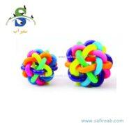 اسباب بازی توپ ماکارونی شکل زنگوله دار مناسب سگ و گربه (سایز S,L) دی پی اس