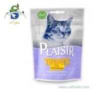 اسنک تشویقی گربه حاوی پنیر (۶۰ گرم) پلازیر (Plaisir TREATS WITH CHEESE 60gr)