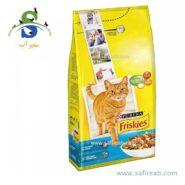 غذای خشک گربه با طعم ماهی سالمون و سبزیجات فریسکیز (FRISKIES with Salmon & Vegetables –