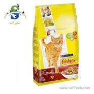 غذای خشک گربه با گوشت گاو، مرغ و سبزیجات فریسکیز (FRISKIES with beef, chicken