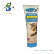مالت گربه حاوی مولتی ویتامین (۱۰۰ گرم) وینستون (Winston Vitaminpaste mit Anti HairBall Komplex 100g) 2