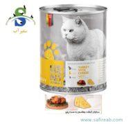 کنسرو گربه بالغ حاوی گوشت بوقلمون به همراه پنیر (۴۰۰ گرم) یو اس پت (Uspet Cans Cat Turkey with Cheese 400gr)