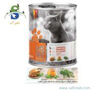 کنسرو گربه بالغ حاوی گوشت مرغ، کدوتنبل و سنبل الطیب (۴۰۰ گرم) یو اس پت (Uspet
