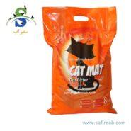 خاک بستر گربه ساده و بدون رایحه (۸ کیلوگرم) کت مت (Cat Mat Natural Ultra Clumping 8kg)