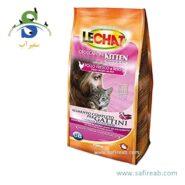 غذای خشک مخصوص بچه گربه و گربه های آبستن و شیروار لیچت (Lechat Kitten Fresh Chicken