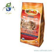 غذای خشک مخصوص گربه های بالغ با طعم بیف و سبزیجات لیچت (Lechat Adult Fresh Beef & Vegetables