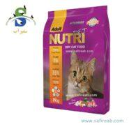 غذای خشک گربه بالغ حاوی ۲۹ درصد پروتئین (۷ کیلوگرم) نوتری پت (Nutri Pet Cat Dry Food Adult 7kg)