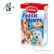 مکمل غذایی سگ به همراه نعناع ، چای سبز ، رُزماری و کلروفیل (۱۰۰ گرم) سانال (Sanal Dog Fresh Mints 100gr)