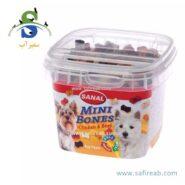 مکمل غذایی کاسه ای استخوانی شکل سگ های نژاد کوچک (۱۰۰ گرم) سانال (Sanal Dog Mini Bones cup 100gr)