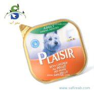 کنسرو کاسه ای سگ حاوی گوشت مرغ (۱۵۰ گرم) پلازیر (Plaisir Paté for dogs CHICKEN 150gr)