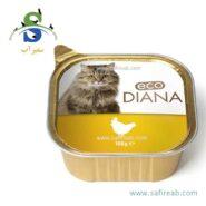 کنسرو کاسه ای گربه بالغ حاوی گوشت مرغ (۱۰۰ گرم) دیانا (Diana Cat food with Chiken 100gr)