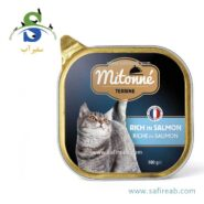 کنسرو گربه با طعم گوشت ماهی سالمون (۱۰۰ گرم) میتونه (Mitonne Alutray Rich in Salmon 100gr)