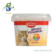 مکمل غذایی کاسه ای مولتی ویتامین گربه حاوی کلسیم (۱۰۰ گرم) سانال (Sanal Cat Multi Vitamin cup 100gr)