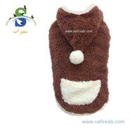 سوئیشرت پشمالوی کلاه دار پاییزی و زمستانی مناسب سگ و گربه داگی دالی مدل (W213) سایز (L)