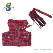 لباس آستین حلقه ای بهمراه لید مناسب خرگوش ، سگ و گربه داگی دالی مدل (DCL045) سایز (S) 1