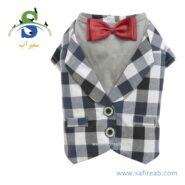 پیراهن پاپیون دار مجلسی مناسب سگ و گربه داگی دالی مدل (C277) سایز (XXL)