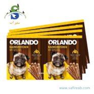 تشویقی مدادی سگ با طعم مرغ (۸ عددی) اورلاندو (Orlando kauwürstchen mit Guflugel 88gr)