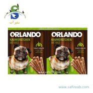 تشویقی مدادی سگ با طعم گوشت شکار (۸ عددی) اورلاندو (Orlando kauwürstchen mit wild 88gr)