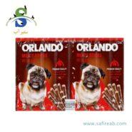 تشویقی مدادی سگ با طعم گوشت گاو (۸ عددی) اورلاندو (Orlando kauwürstchen mit rind 88gr)