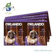 تشویقی مدادی سگ با طعم گوشت گوساله (۸ عددی) اورلاندو (Orlando kauwürstchen mit kalb 88gr)