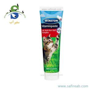 مالت گربه حاوی مولتی ویتامین (۱۰۰ گرم) وینستون (Winston Vitaminpaste mit Anti HairBall Komplex 100g)