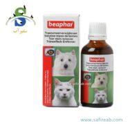 لوسیون تمیزکننده رنگ دانه های اطراف چشم سگ و گربه بیفار (Bephar Tear Stain Remover 50cc)