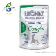 پوچ مخصوص گربه های عقیم شده با طعم خرگوش لیچت (Lechat Pouch Sterilized Rabbit