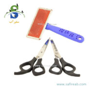 ست ۳ تیکه برس ، قیچی ساده و قیچی خرد کن (Chong Le'er Set of 3 brushes, simple scissors