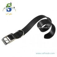قلاده گردنی چرمی طبیعی مشکی رنگ (سایز S) فرپلاست (Ferplast Natural Leather Collar S) 1