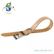 قلاده گردنی چرمی طبیعی کرم رنگ فرپلاست (Ferplast Natural Leather Collar 1