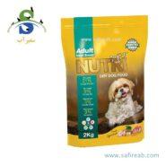غذای خشک سگ نژاد کوچک حاوی ۲۱ درصد پروتئین (۲ کیلوگرم) نوتری پت (Nutri Pet Adult Mini 21%