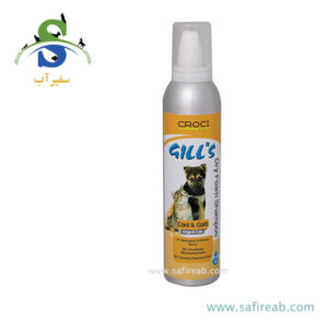 شامپو خشک مخصوص سگ و گربه جیلز (GILL'S SHAMPOO DRY FOAM