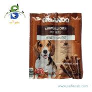 تشویقی مدادی سگ با طعم گوشت گاو (۸ عددی) اورلاندو (Orlando kauwürstchen mit rind 88gr) 2