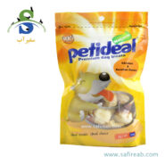 غذای تشویقی سگ مدل مرغ و استخوان گره ای (۱۰۰ گرم) پتی دیل (Petideal Chicken and Rawhide Bones 100g)