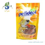 غذای تشویقی سگ مدل نواری مرغ (۱۰۰ گرم) پتی دیل (Petideal Chiken Strips 100g)