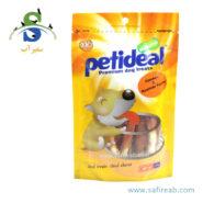 غذای تشویقی سگ مدل پیچی با طعم مرغ (۱۰۰ گرم) پتی دیل (Petideal Chicken and Rawhide Twist 100g)
