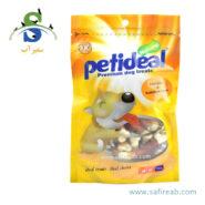 غذای تشویقی سگ مدل کلسیم با طعم مرغ (۱۰۰ گرم) پتی دیل (Petideal Chicken and Calcium Bone 100g)