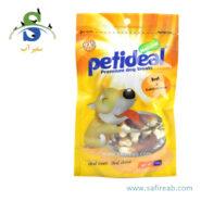 غذای تشویقی سگ مدل کلسیم با طعم بیف (۱۰۰ گرم) پتی دیل (Petideal Beef and Calcium Bone 100g)