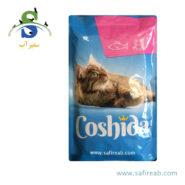 پوچ (سوپ) گربه با طعم ماهی سالمون و خرچنگ (۱۰۰ گرم) کوشیدا (Coshida Salmon & Crab۱۰۰gr)