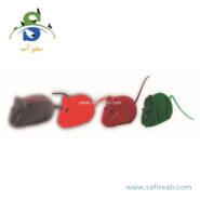 اسباب بازی موش صدا دار سوتی (۴ عددی) چانگ لیر (Chong Le'er Whiskey Hamster toy)