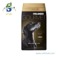 غذای خشک سگ رژیمی و کم چرب حاوی تورین (۲۵ کیلوگرم) اورلاندو (Orlando Dry Food Dog Golden Age&Turine 2.5kg)