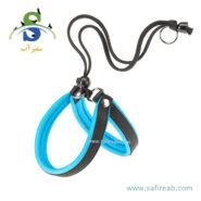 قلاده کتفی آگیلا فلو آبی رنگ (سایز XXS) فرپلاست (Ferplast Agila Fluo Harness XXS) 1